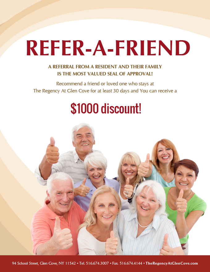 refer a friend flyer
