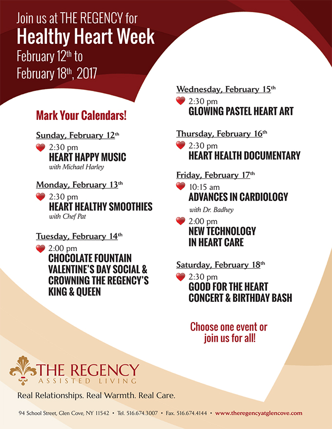 Healthy Heart Week at The Regency Assisted Living