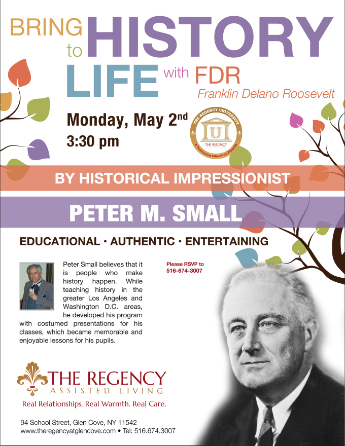 fdr flyer with peter small the regency assisted living in long island